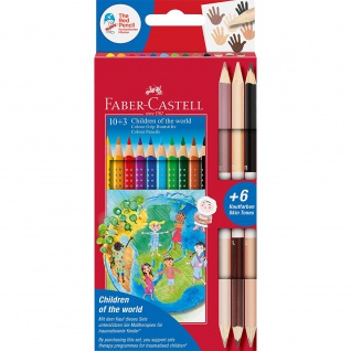 Faber Castell Buntstifte Colour Grip Children of the World Edition