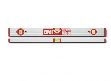 Wasserwaage Eurostar 120cm Aluminium silber Genauigkeit 0, 5mm/m von BMI