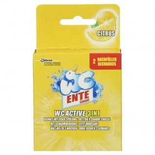 WC-Ente WC Active 3in1 WC-Frische und -Reiniger, Nachfüller Citrus, 2 Stück (1 x 80 g)
