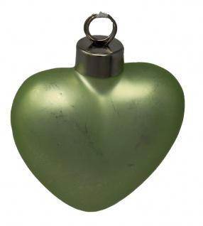 Baumschmuck Herz Osterdekoration Frühjahrsdeko grün metallic