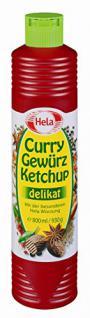 Hela Curry Gewürz Ketchup delikat 800 ml, 6er Pack (6 x 800 ml)