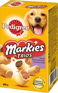 Pedigree Snack für Hunde Markies Trios 3 Geschmacksrichtungen 500g