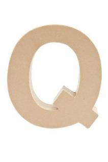 """Pappmache Buchstabe """" Q"""" stehend zum basteln kreativ Rico Design Idee"""