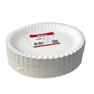 STARPAK 82701 Teller Pappe 23cm weiß (100Stk) - Vorschau 1
