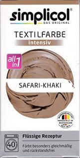 """Simplicol Textilfarbe intensiv all in 1 -Flüssige Rezeptur """" Safari-Khaki"""" Neu! - Vorschau"""