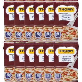 Thomy Les Sauces Pfannen Sahne Sauce helle Fleischsoße 250ml 12er Pack