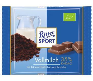 Ritter Sport Bio Vollmilch Menge:65g
