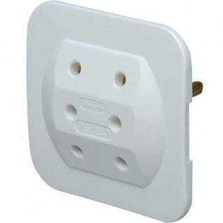 Kopp Adapter 3-fach extra flach, weiß 5er Pack