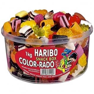 Haribo Color Rado Fun Mix Lakritz und Fruchtgummi 1000g Box 6er Pack