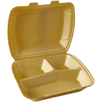 Menüboxen EPS 3 geteilt gold Papstar Starpak 90099 100 Stück