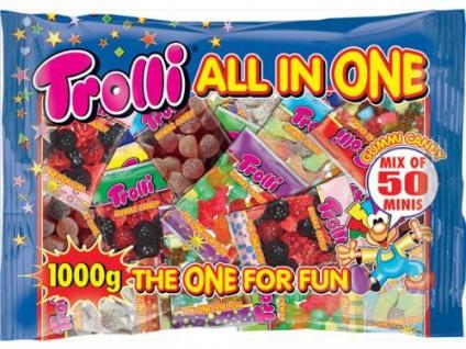 Trolli All in One Mix bunter Spaß Fruchtgummi The One For Fun 1000g