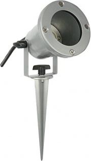 Tele-Sound Gartenstrahler mit Erdspieß IP68 inklusive Power-LED-Leuchtmittel GU10, silber, 46-2941901