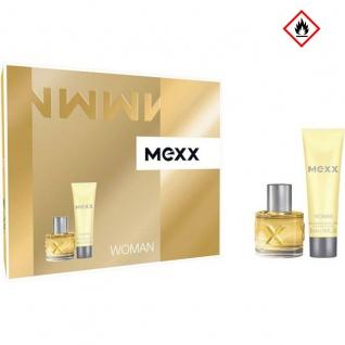 Mexx Woman Geschenk Set blumig frisches EDT und Body Lotion 70ml