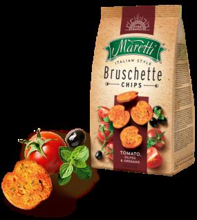Maretti Bruschette Tomato, Olives & Oregano leckere Brotscheiben 150g
