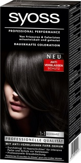 Syoss Coloration 1-1 Schwarz, 3er Pack (3 x 115 ml)