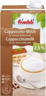 Frischli Cappuccino Milch 2, 5% eine gute Kaffeespezialität 1000ml