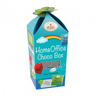 Heidel Home Office Choco Box mit kleine Schokoladentäfelchen 83g