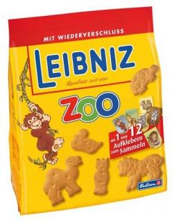 Leibniz knackfrischer hauchzarter Mini Butterkeks Zoo Original 125g