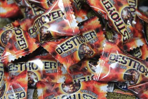 Bubble Gum Chicle Destroyer extrasaure Shock Kaugummi einzeln 5g