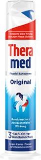 Theramed Zahncreme Spender Original Fluorid-Zahncreme 100ml 5er Pack