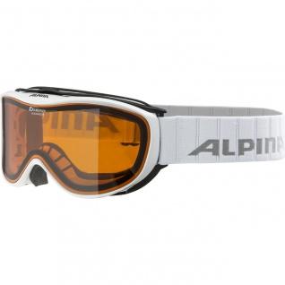 Alpina Challenge 2.0D white Ski und Snowboardbrille hicon orange