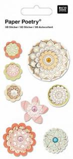 3D-Sticker Blumenmix