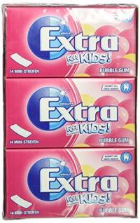 Wrigleys Extra for Kids Bubble Gum Mini Streifen Kaugummi 12er Pack
