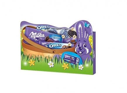 Milka Oreo Geschenkbox Ostern Mischung aus Alpenmilch Schokolade 182g