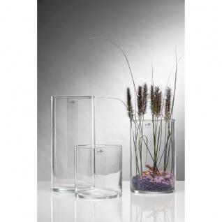 Glasvase Dekoglas von Sandra Rich Serie CYLI zylinderisch rund 20cm