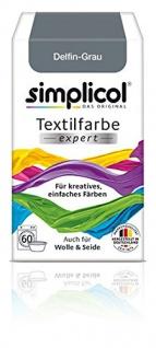 """Simplicol Textilfarbe expert -Für kreatives, einfaches Färben - 1717 """" Delfin-Grau"""" Neu!"""