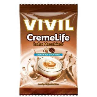 Vivil CremeLife Latte Macchiato sahnige Kaffee Bonbons Zuckerfrei 110g