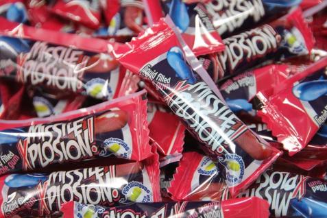 Boom Missile Explosion Bubble Gum mit Liquid Candy und Gum 5g