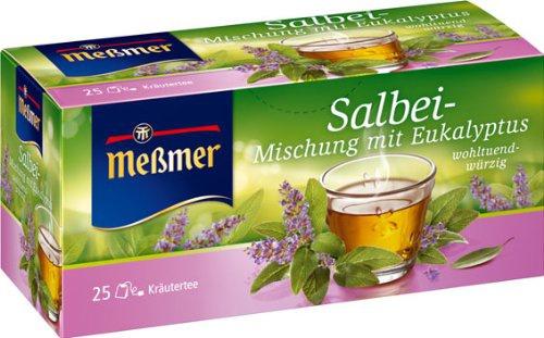 Meßmer Salbei Mischung mit Eukalyptus würzig Teegetränk 2er Pack