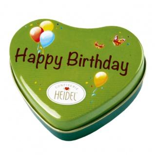 Heidel Happy Birthday Metalldose mit Schokoladen Pralinen 32g