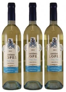Antonio Lopes Vinho Verde DOC Weißwein Halbtrocken 750ml 3er Pack