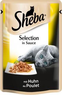 Sheba Selection in Sauce mit Huhn im praktischen Portionsbeutel 85g