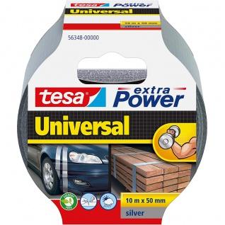Tesa extra Power Universal Klebeband Silber wasserfest 10m x 50mm
