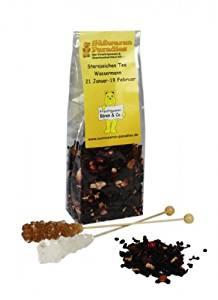 Sternzeichen Tee Wassermann mit Kandiszucker Erdbeer Sahne Tee 100g