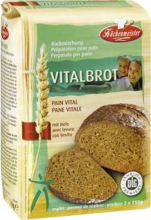 Backmischung Vitalbrot Mehrkornbrot mit Hefe 1kg für zwei Brote