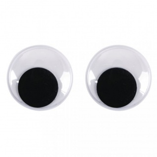 Wackelaugen rund bewegliche Pupille Durchmesser 18mm 10 Stück