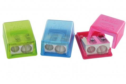 WEDO Dosenspitzer doppelt flach Behälterspitzer eckig farbig sortiert