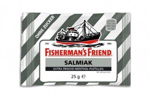 Fishermans Friend Salmiak ohne Zucker Pastillen mit Menthol 25g