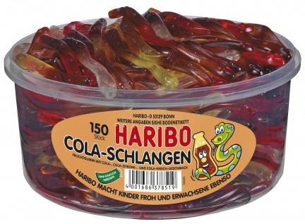 Haribo Colaschlangen mit Cola Zitrone und Cola Kirsch Geschmack 1050g