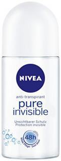 Nivea Deo Pure Invisible Deoroller, Antitranspirant, 6er Pack (6 x 50 ml)