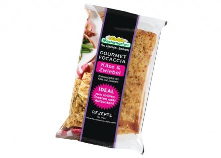 Mestemacher Gourmet Focaccia Käse & Zwiebel 250g