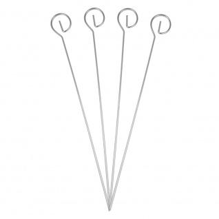 Schaschlikspieße in schlankem Eleganten Design Edelstahl 4 Stück 22cm