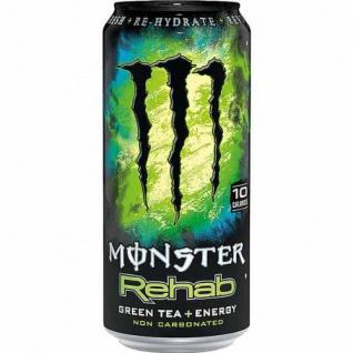 Monster Rehab Green Tea Energy Drink mit Taurin und Guarana 500ml 4erPack