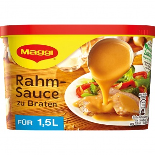 Maggi Rahm Sauce zu Braten ideal zu Schnitzel und Geschnetzeltem 228g