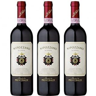 Frescobaldi Nipozzano Riserva Rosso trockener Rotwein fruchtig 750ml 3er Pack