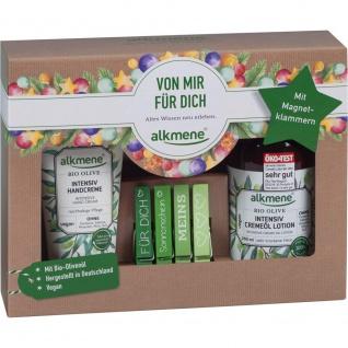 Alkmene Geschenkset Magnetklammern Lotion Bio Olive und Handcreme 484g